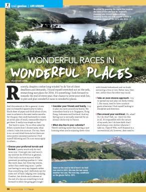 Wonderful races in wonderful places