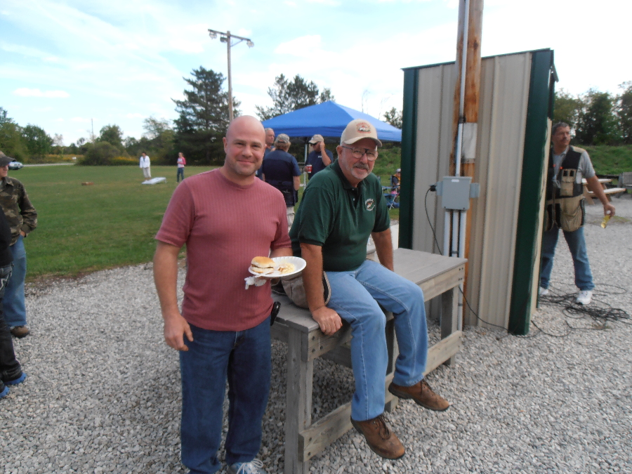 FCL Trustee, Jason Lawrence and FCL Secretary, Gary Ebinger enjoying the Dean Beck Memorial Shoot