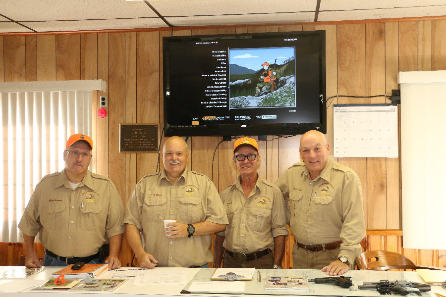 Hunter Education Instructors - Chuick Summers, Paul Bresson, Vaughn Thomas, Wayne Kiser