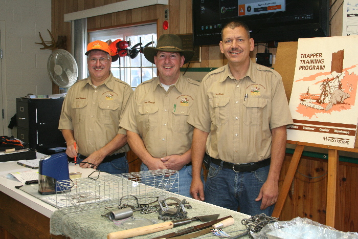 Trapper Education Instructors - Chuck Sommers, Tom Dunlap, & Lon Burton