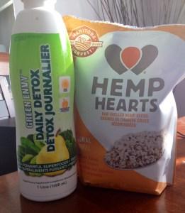 Green Envy and Hemp Hearts