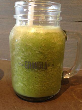 The Shrek Smoothie (spinach, kale, banana, apple, almond butter & almond milk