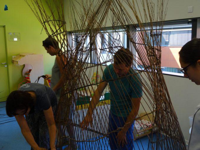 Basketry workshop in hospital – first week