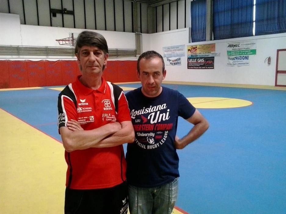 a dx il presidente Zentile con il tecnico Mihai Craioveanu