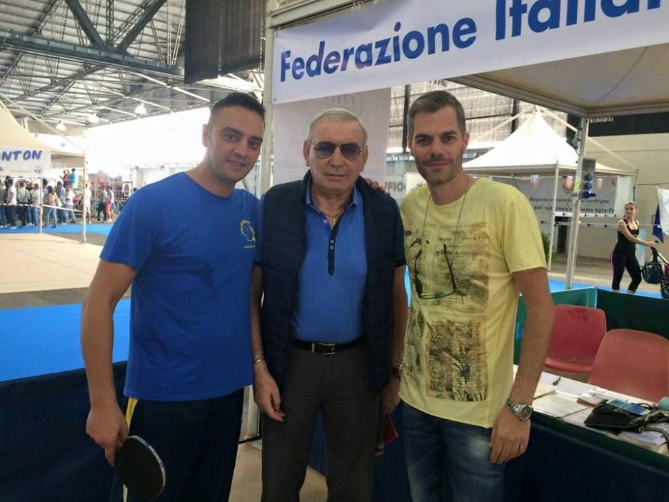 Due leggende dello sport assieme al presidente Fitet Carrucciu Gigi Riva e massimiliano Mondello