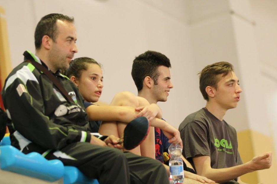 Il presidente Zentile con i suoi atleti (Foto Tomaso Fenu)