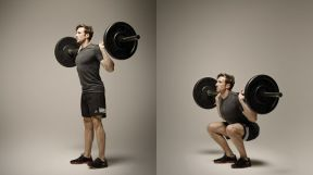 leg day workout barbell squat