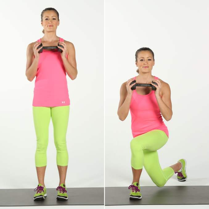 cross over lunges for leg day workout