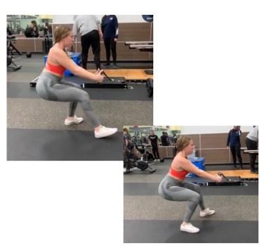 cable squats variations- cable squat walk