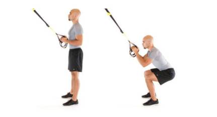 cable squats variation- high cable squats