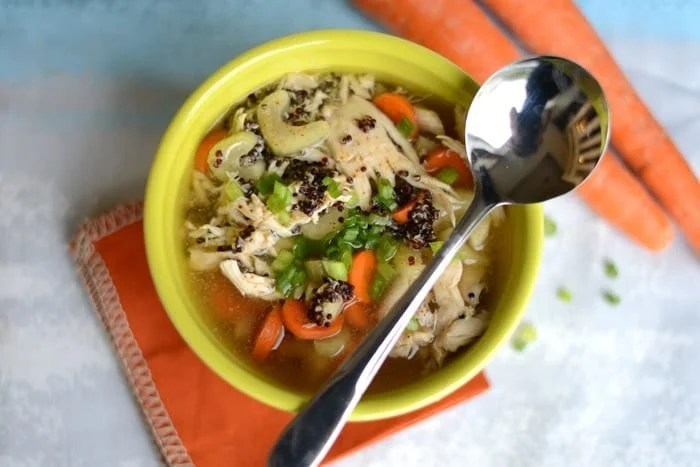 Chicken Quinoa Soup from Fit Foodie Finds