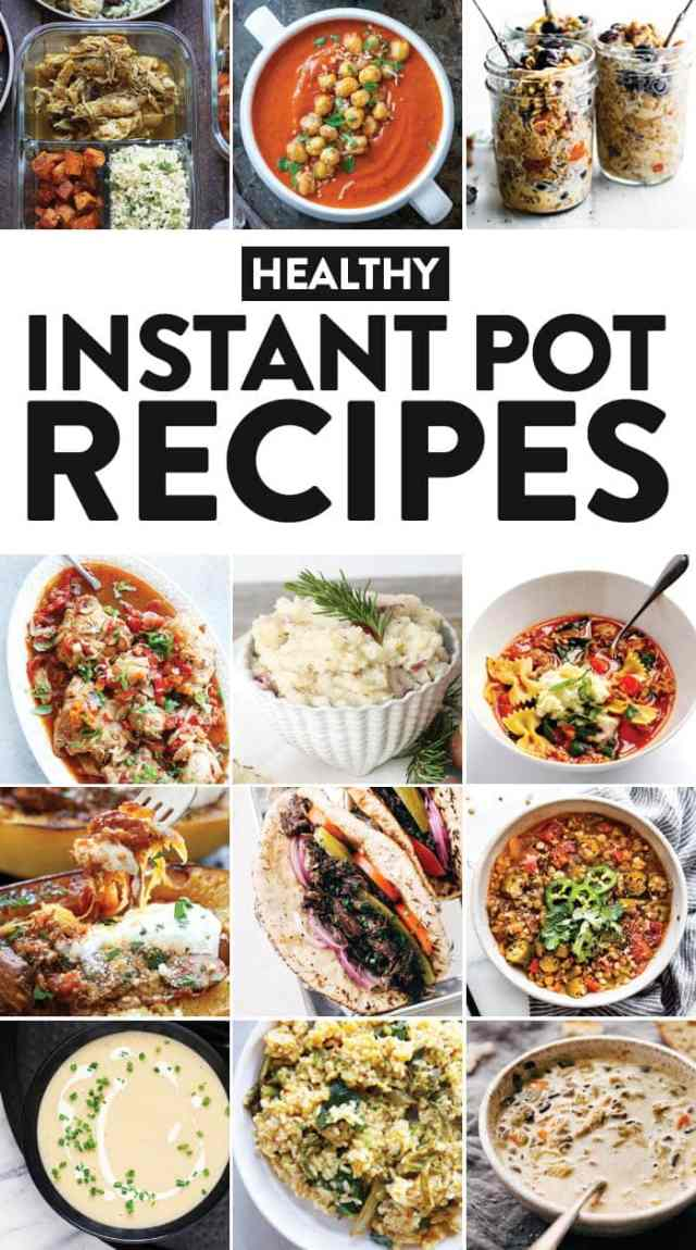 Whip out your Instant Pot and make any of these 42 healthy Instant Pot recipes for a quick, fresh, homemade meal with clean and delicious ingredients. Did you know the Instant Pot is even good for making desserts?! Don't worry, we made sure to include some of those tasty recipes for ya, too!