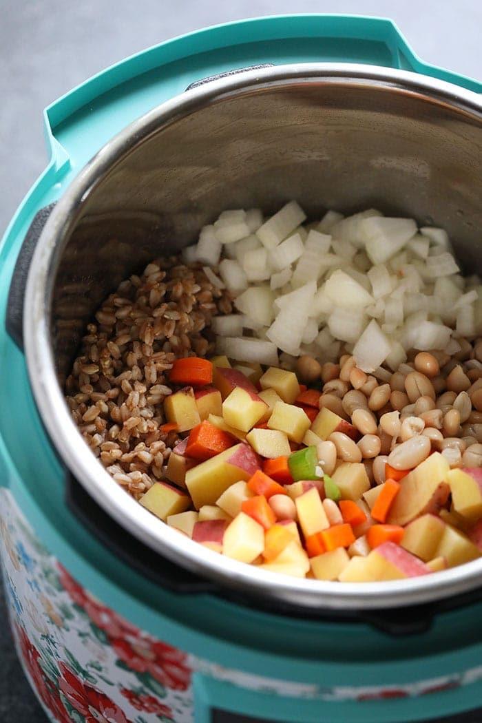Suppenzutaten im Instant Pot