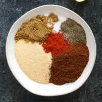 Chilli spices on plate