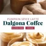 Dalgona coffee in cups.