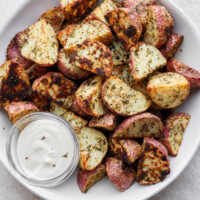 roasted red potatoes in a bowl
