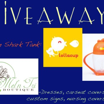 GIVEAWAY! Mel 'n' Tri Custom Kid's Boutique & TV's Shark Tank's Lollacup Sippy