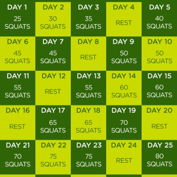 30-Day Squat Challenge by FIT4MOM
