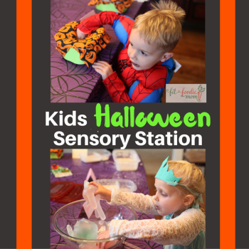 Halloween Sensory Station for Kids