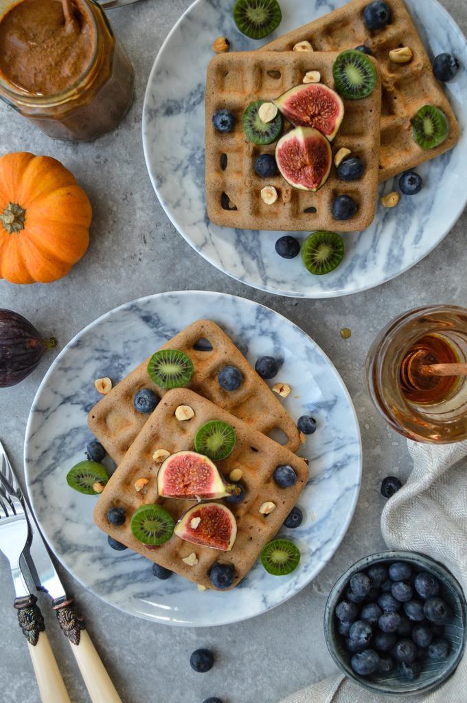 Gluten free pumpkin spice waffles