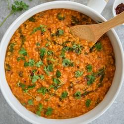 Red lentil curry (gluten free, vegan)