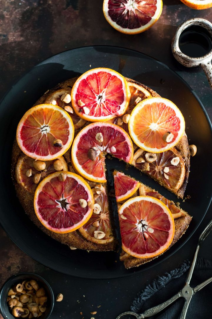 Upside down blood orange cake