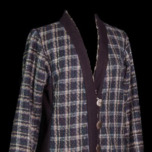 Plaid wool jacket with trim fit