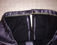 Invisible zipper and finished waistband.