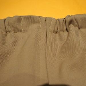 Monica's pants with a faced, elastic waist.