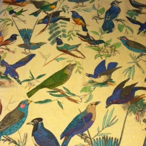 Stash fabric with painted birds.