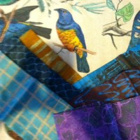 A bird with some of the Marcie Dearse Fabric.
