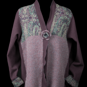 Felted Purple Jacket - front view