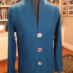 Boiled Wool Sweater Jacket Fit For Art Patterns