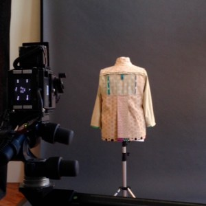 Photographing the inside of the back to fill in the neck of the It's a Spectical Jacket