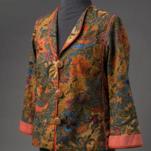 Tropical Birds & Flowers Batik jacket, side view