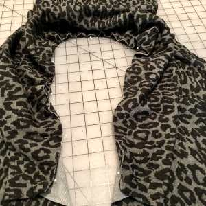 Cowl Collar pinned to neckline