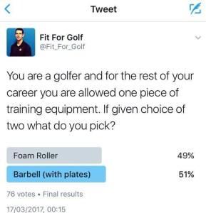 Foam roller vs barbell poll