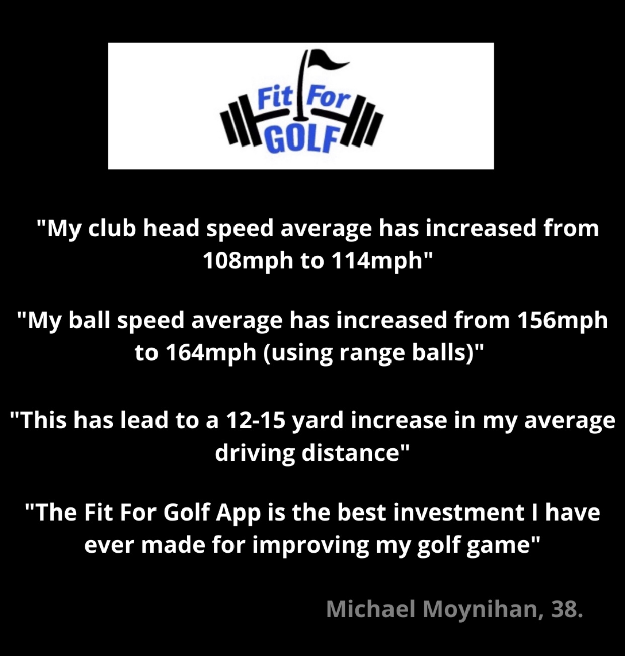 Club Head Speed Increases 6 MPH and Ball Speed Increases 8 MPH