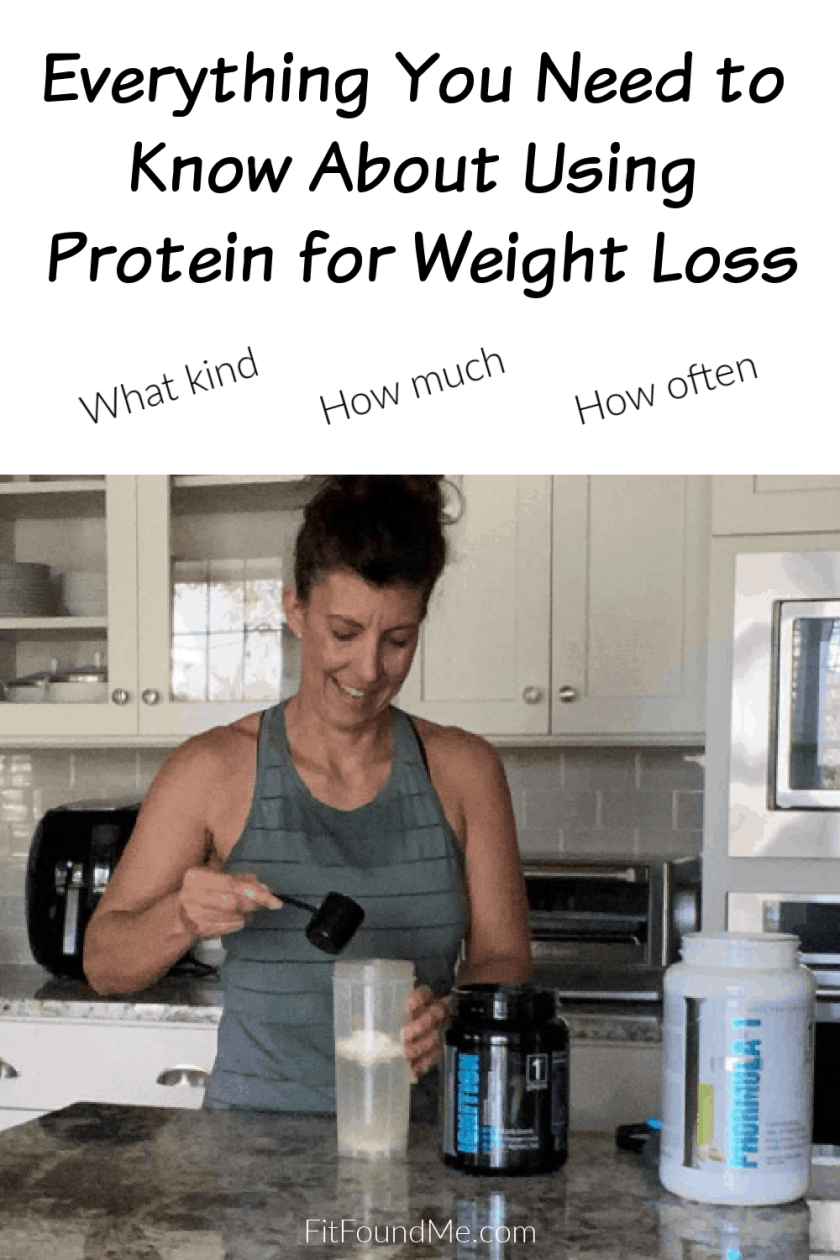 mixing a protein shake stack in kitchen after workout