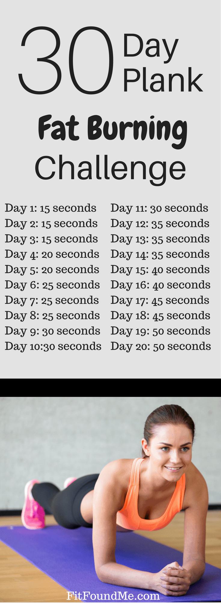 30 day plank fat burning challenge