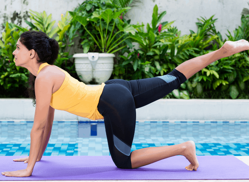woman doing hip exercise