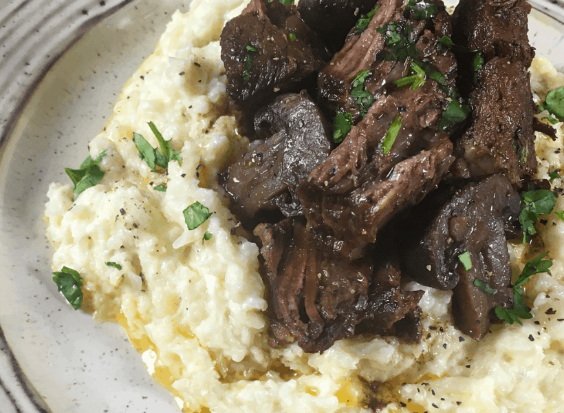 keto stove top pot roast with mushrooms