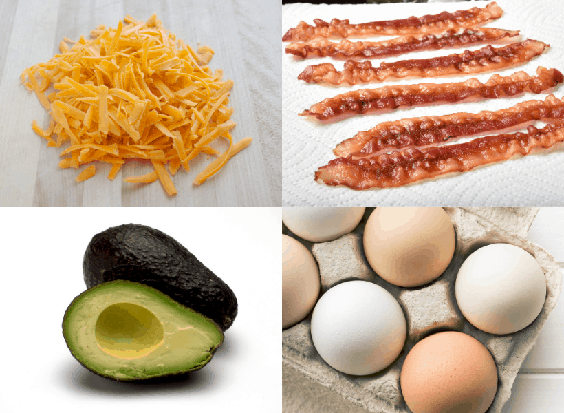 ingredients for avocado egg boats
