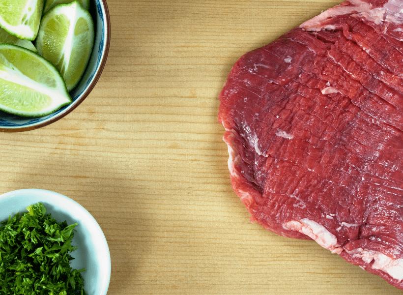 prepare steak for marinade