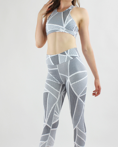 geometric print workout outfit fitgal