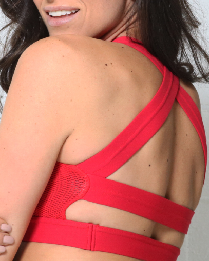 red sports bra fitgal