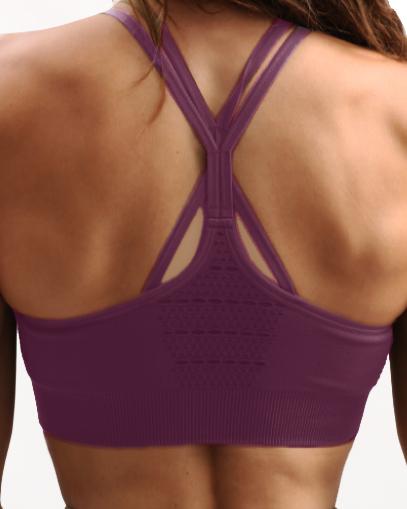 purple high impact sports bra