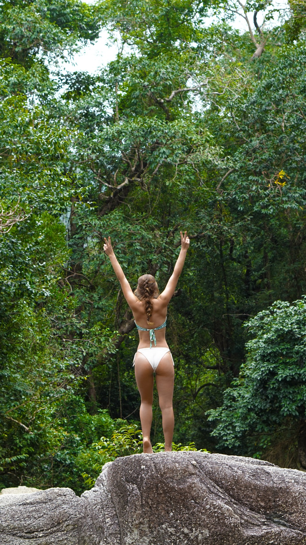 In the middle of the jungle