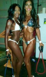 Val and I - 1st and 2nd place Masters