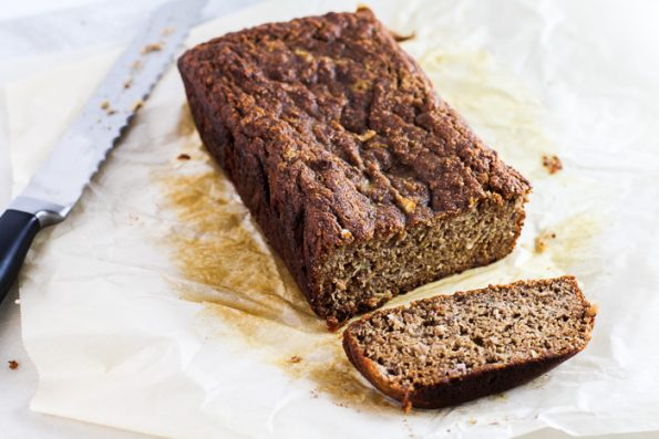 Paleo Banana Coconut Bread sliced